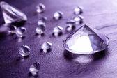 Fotografie verschiedene schöne Diamanten, Nahaufnahme