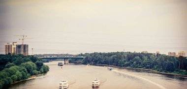 Moscow outskirts, river