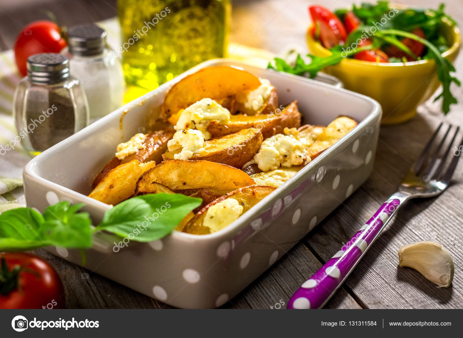 Magnificent Baked Potatoes With Cottage Cheese Stock Photo Interior Design Ideas Gentotryabchikinfo