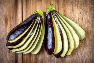 Sliced ripe Eggplants