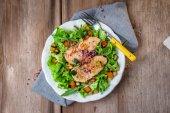 Chicken Salad on background