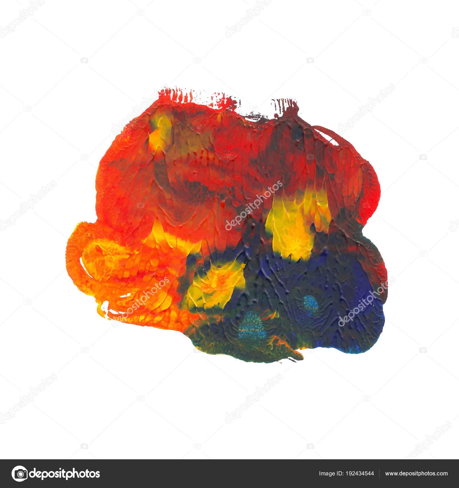 Monotyped Tache De Peinture Acrylique Image Vectorielle Enkaparmur