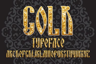 Gold typeface set