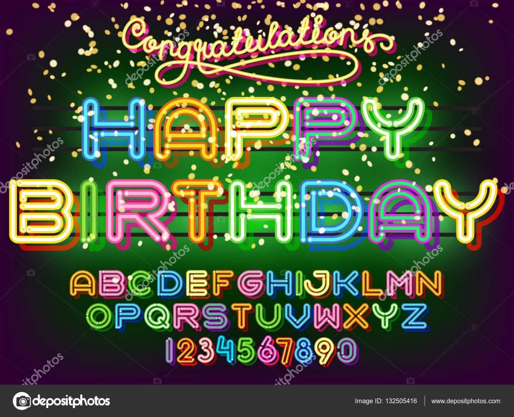Шрифт для поздравления с днем рождения фото 919