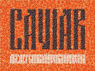 Old slavic font black caviar