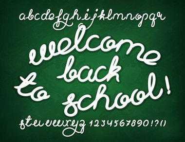 Welcome back to school Handwritten alphabet