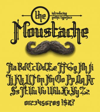the moustache font