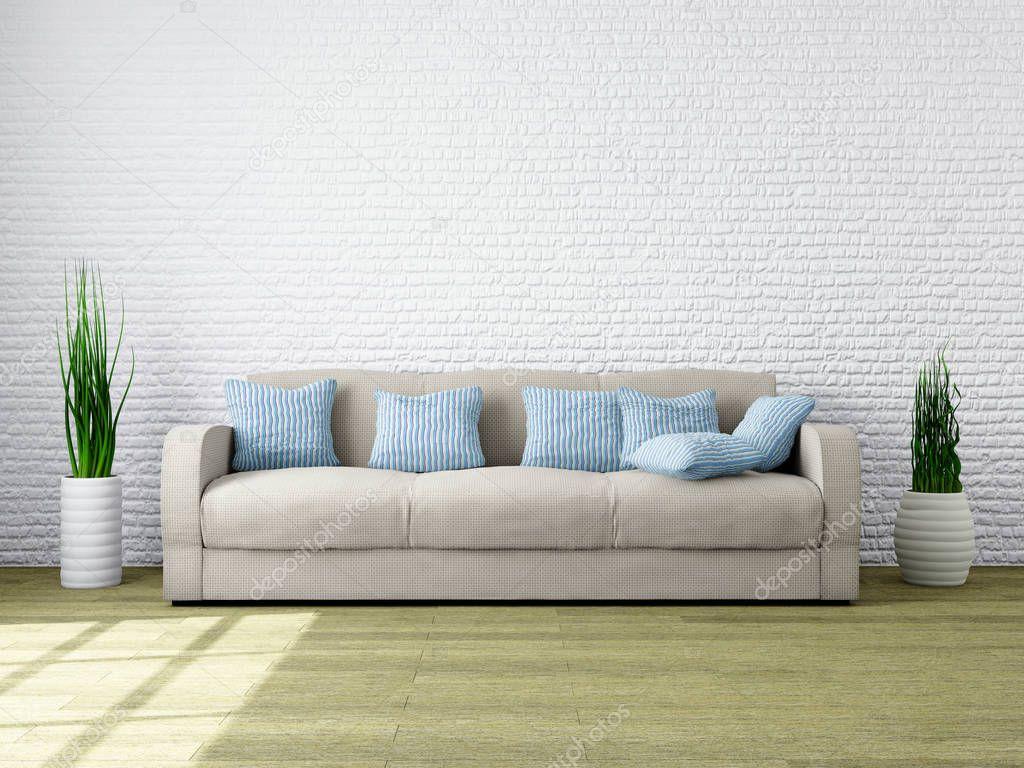 Modern minimalistisch interieur van een woonkamer u2014 stockfoto