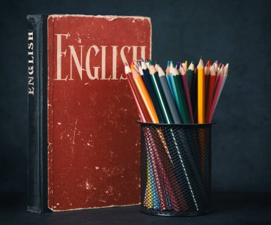 learning english concept still life