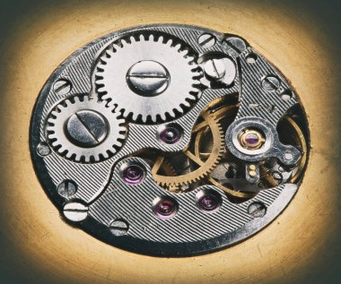macro shot of watch mechanism