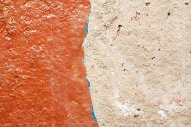 Closeup of unpleasant detail wall inside home during repair stock vector