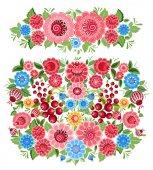 Fotografie dekorativní květinové ornamenty