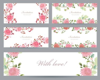 greeting cards with chrysanthemums
