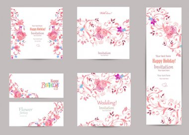 romantic collection of greeting cards