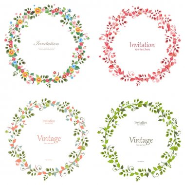 romantic floral collection of wreaths