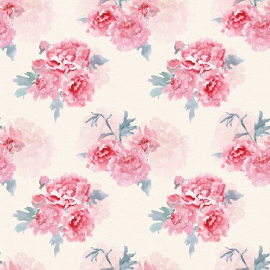 seamless texture with stylized flowers