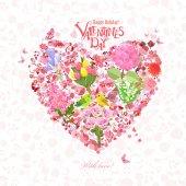 Fotografia romantico cuore floreale