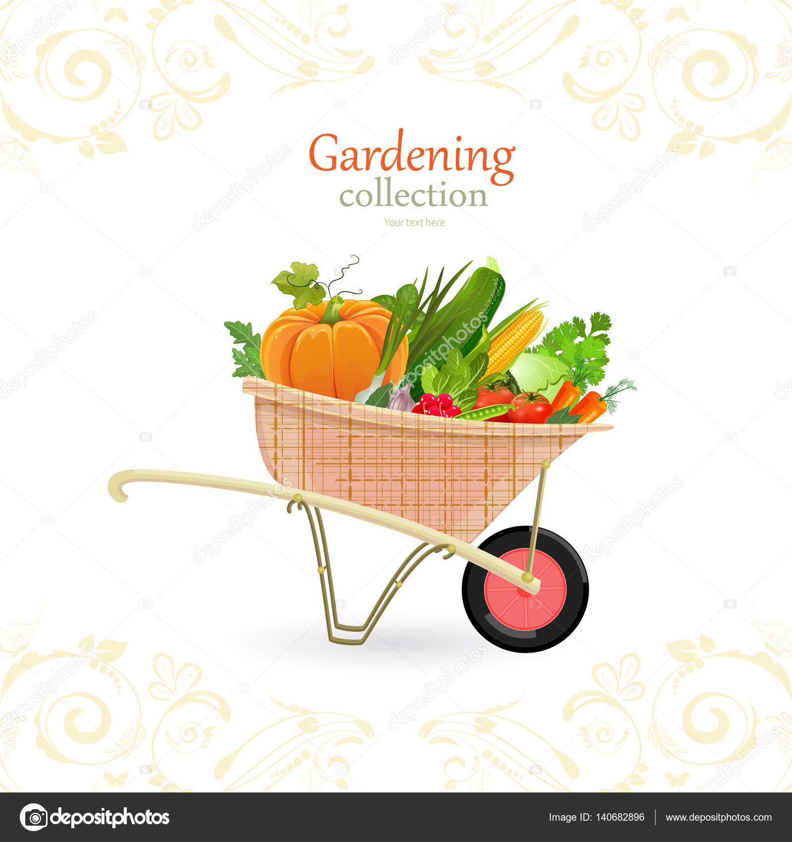 Vintage Garden Cart U2014 Stock Vector #140682896