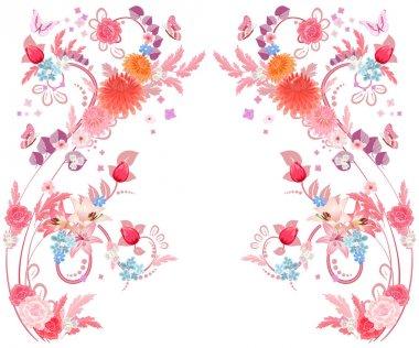 romantic elegant floral pattern