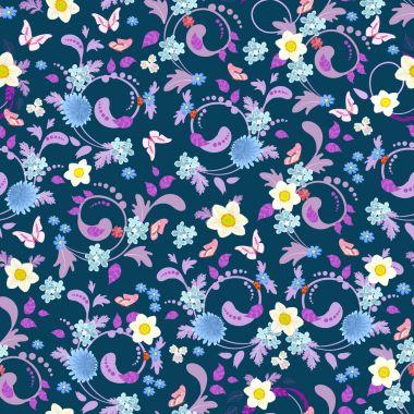 fashion floral seamless texture