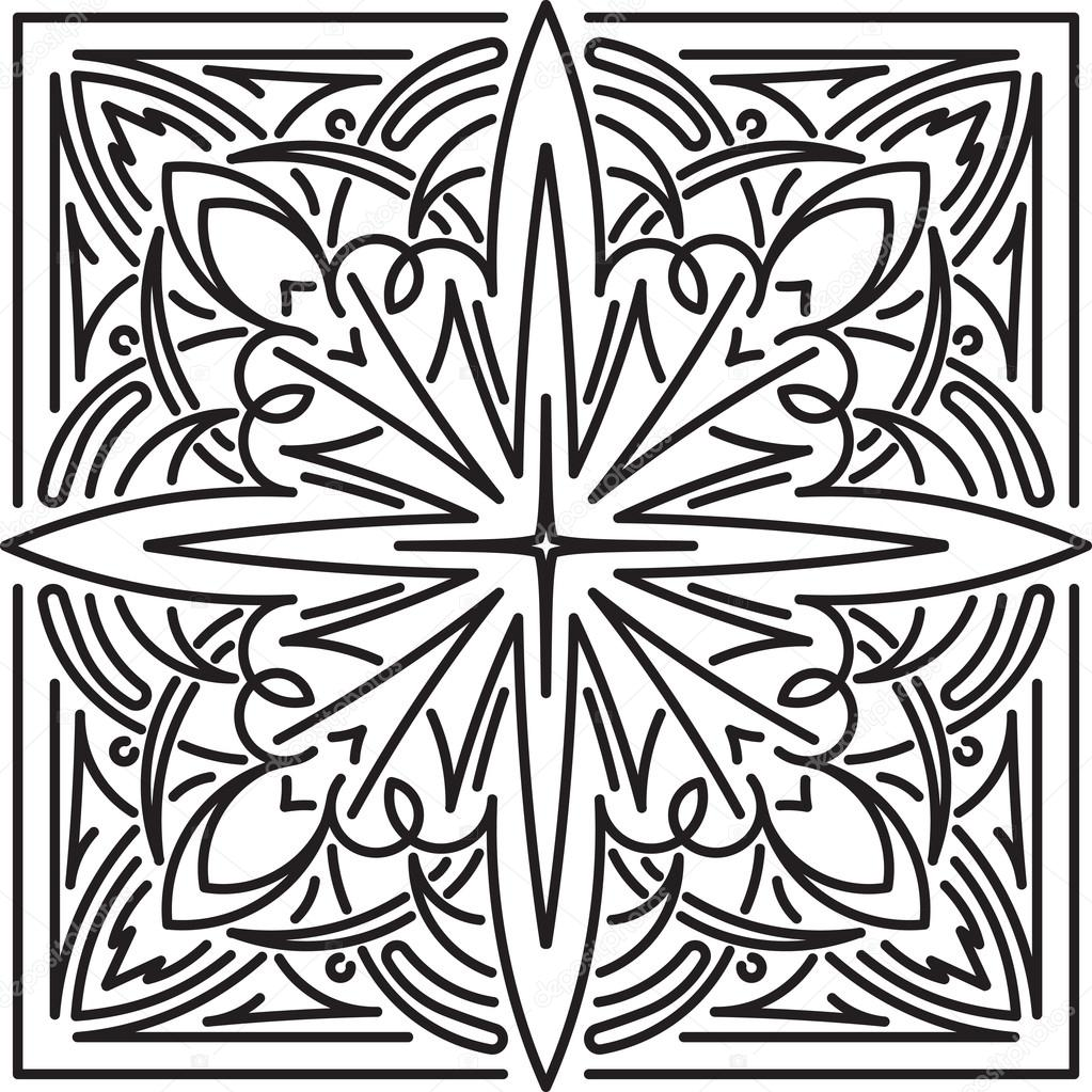 mandala carr l ment de d coration ethnique image vectorielle antonshpak 127544670. Black Bedroom Furniture Sets. Home Design Ideas