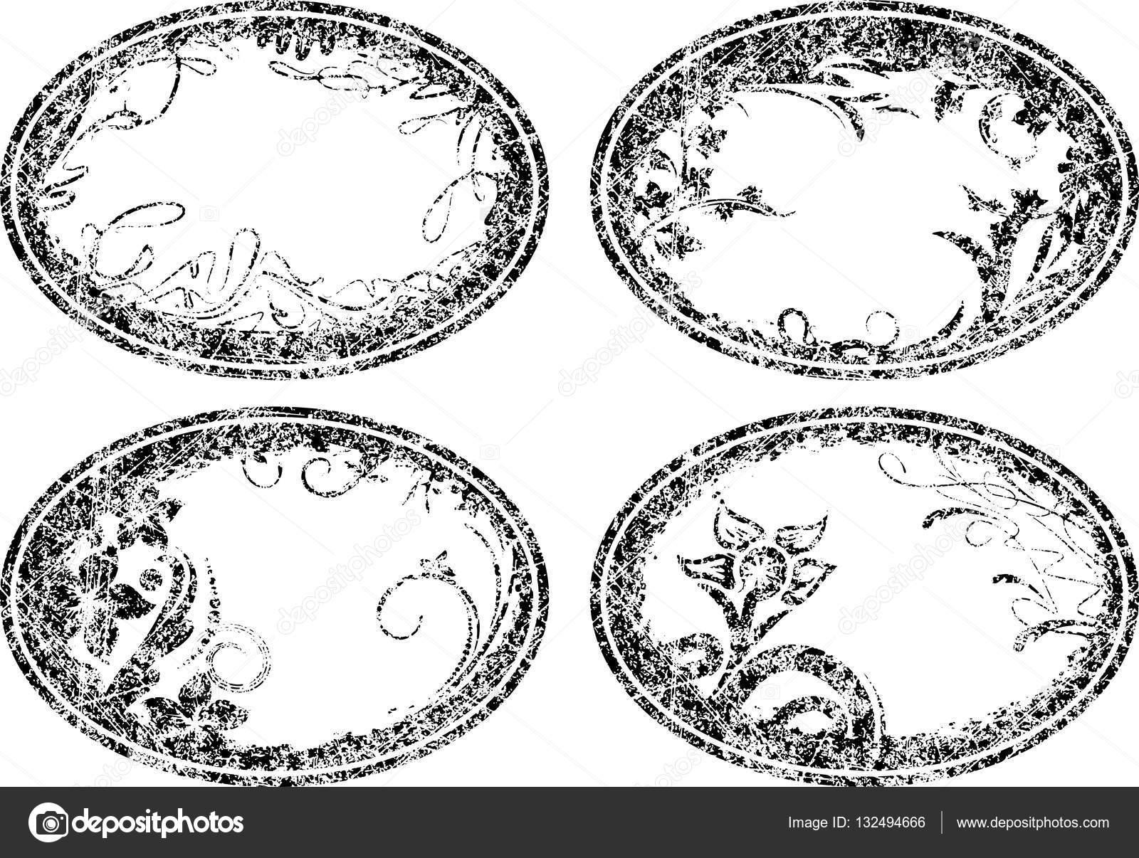 Marcos florales ovales — Archivo Imágenes Vectoriales © antonshpak ...