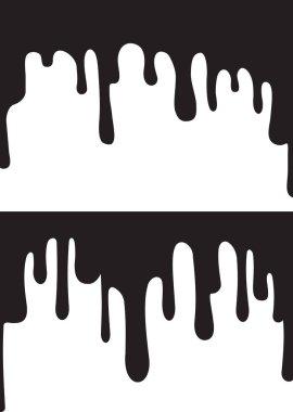 black paint drips