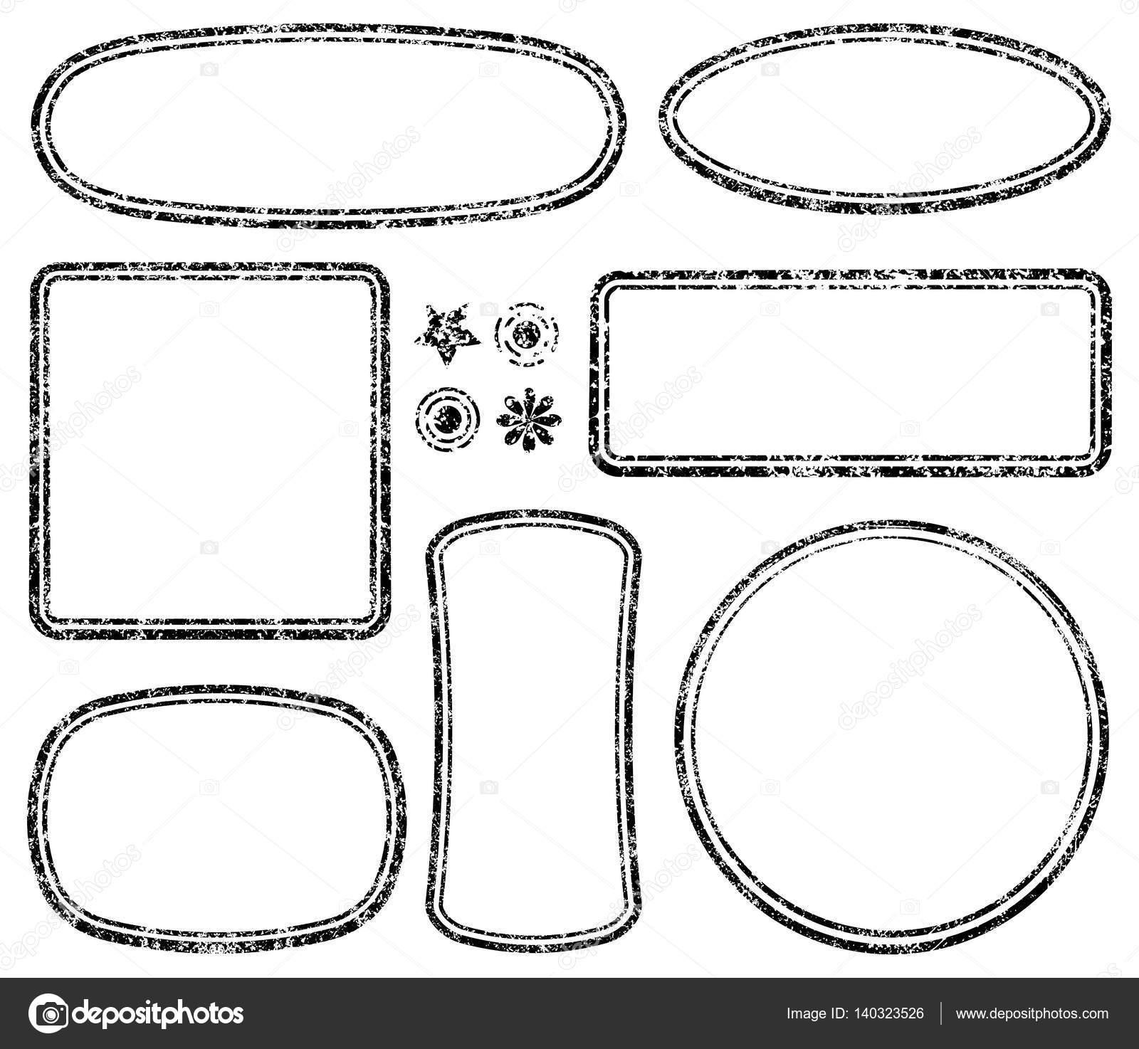 templates for rubber stamps stock vector antonshpak 140323526
