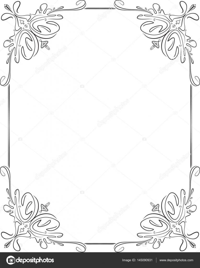 vintage black frame. Vintage Svart Ram \u2014 Stock Vektor Black Frame