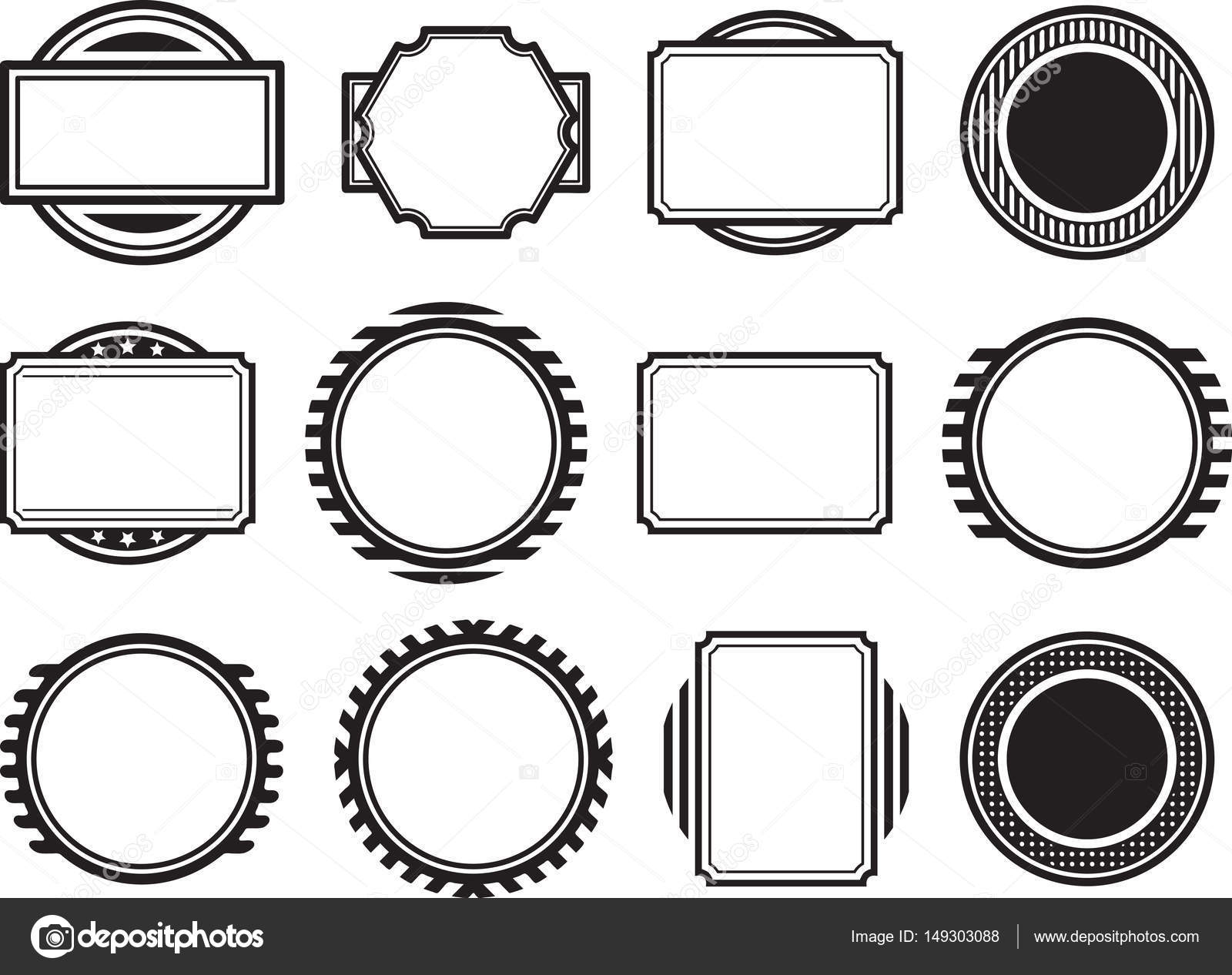 templates for rubber stamps stock vector antonshpak 149303088