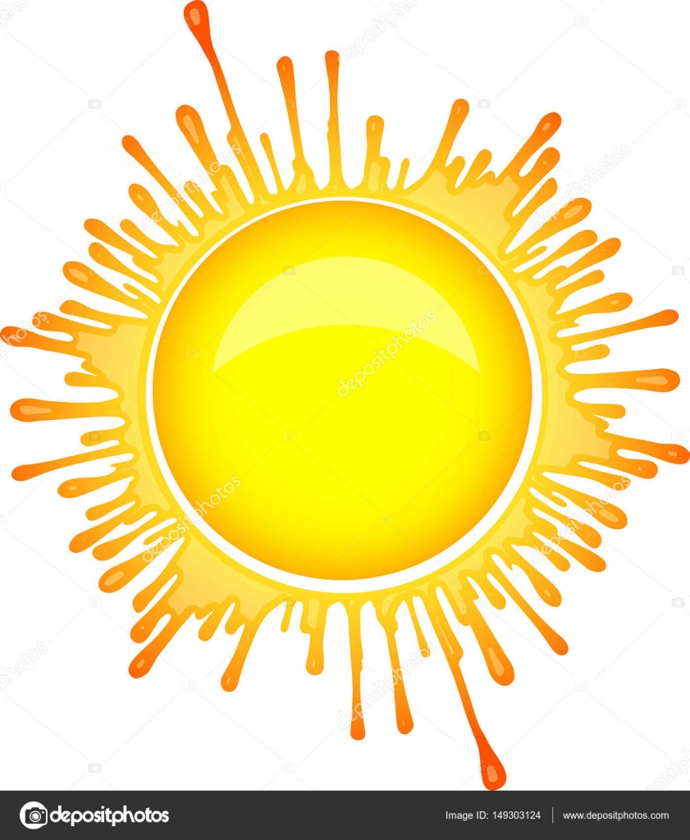 Sun symbol in inkblot style stock vector antonshpak 149303124 colorful bright sun symbol in inkblot style vector by antonshpak buycottarizona Images