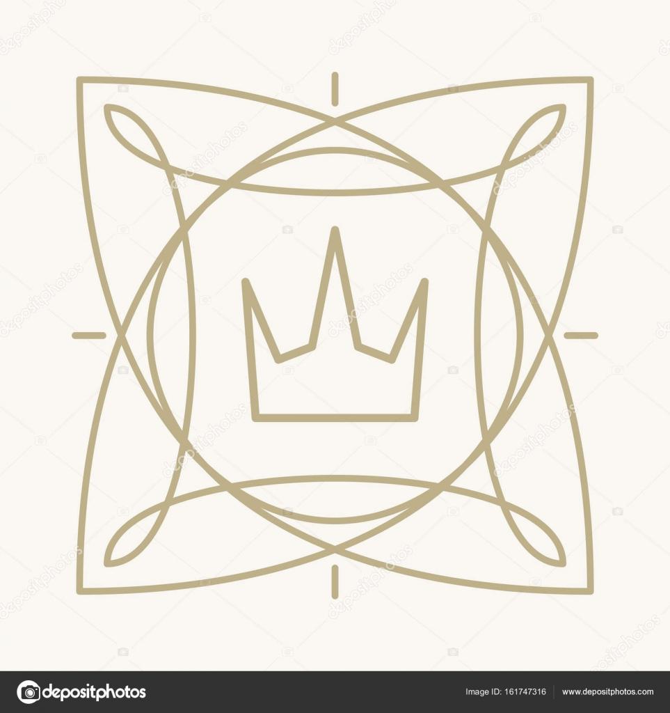 marco con corona para logo — Archivo Imágenes Vectoriales ...