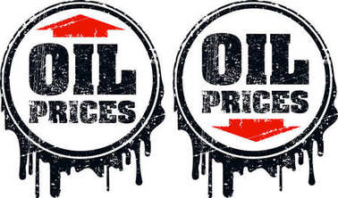 Pair of oil prices grunge design