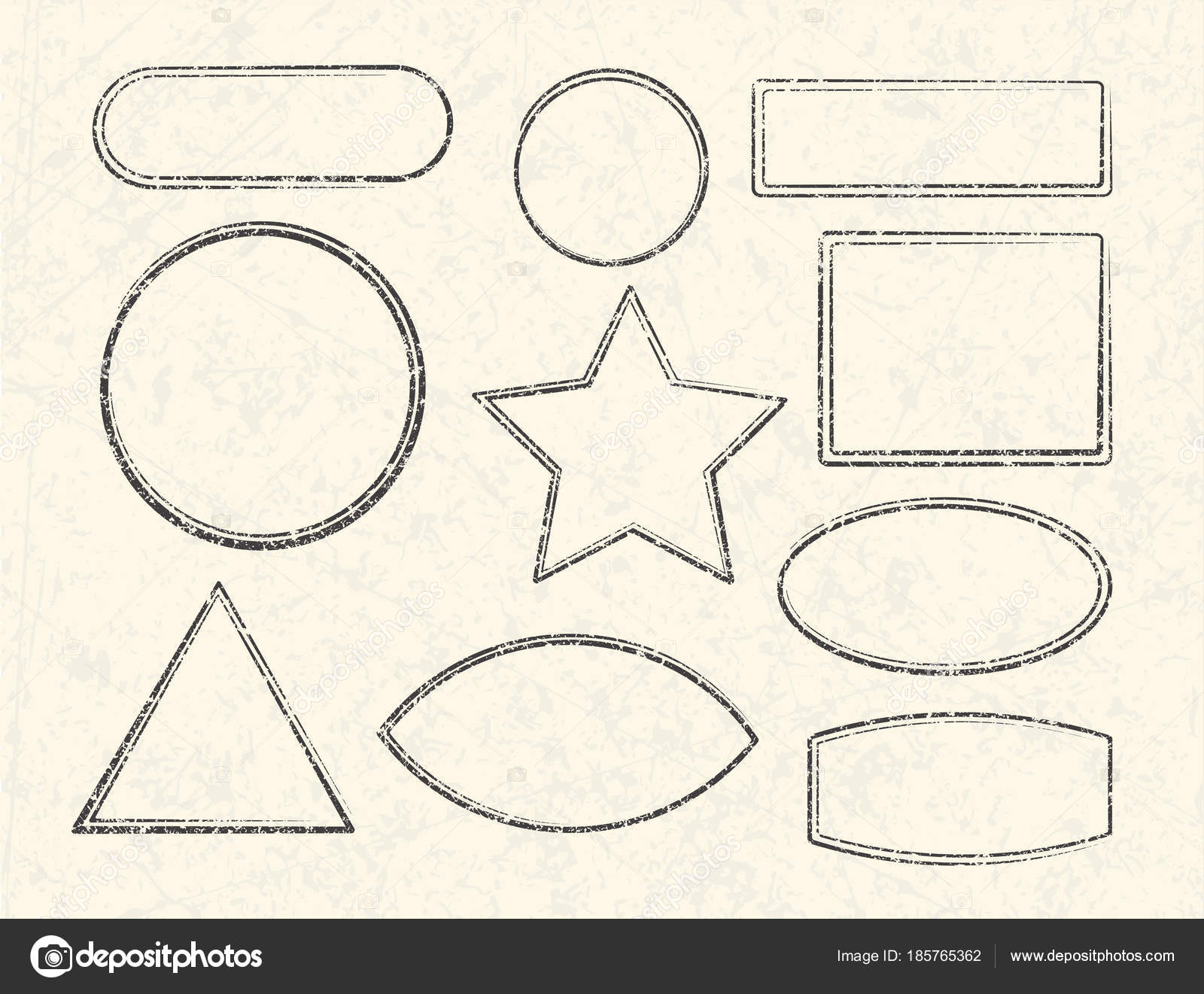 templates for rubber stamps stock vector antonshpak 185765362