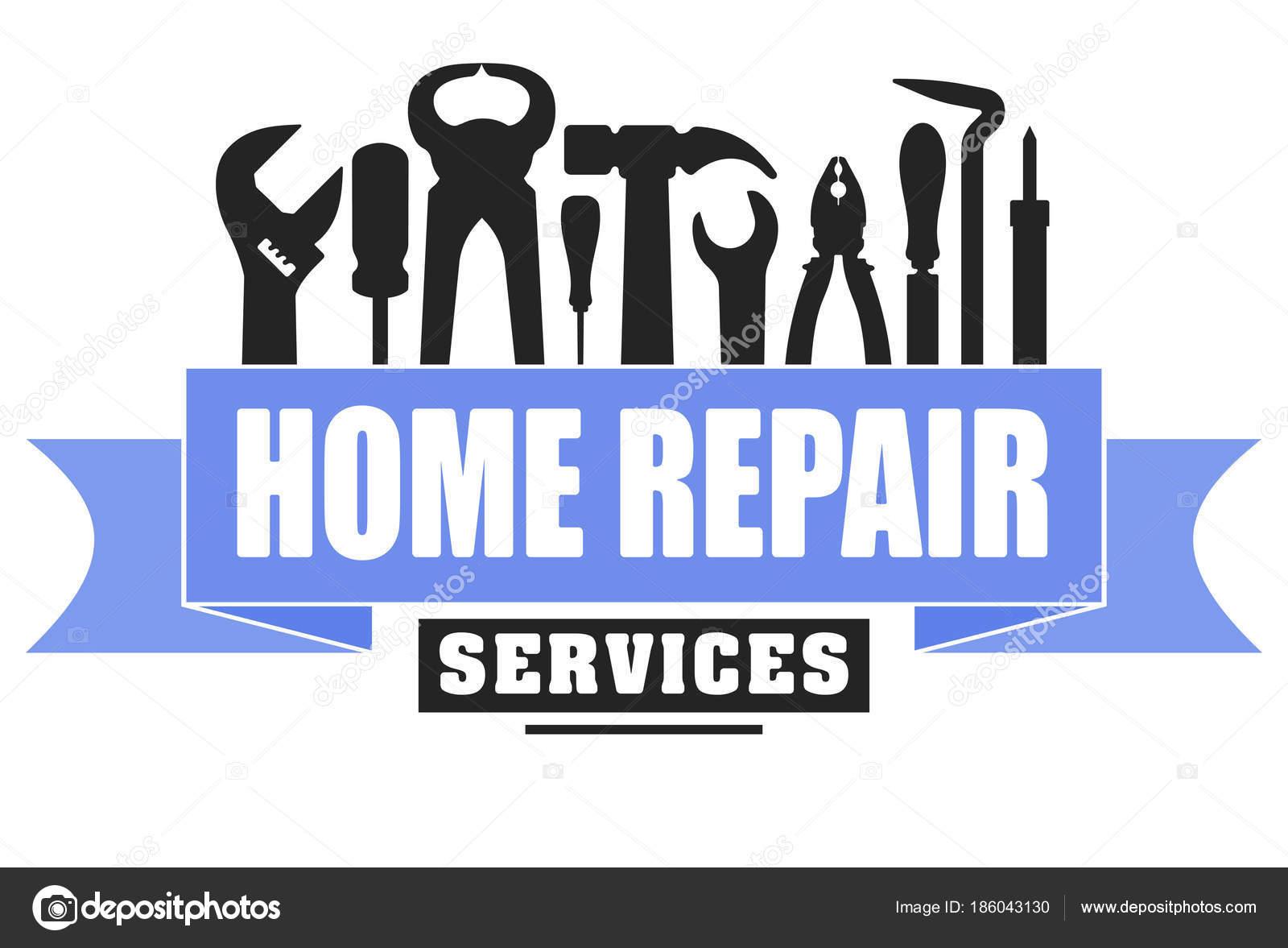 Home Repair Services Logo Stock Vector C Antonshpak 186043130