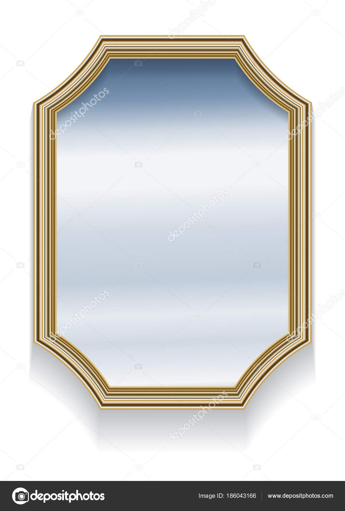Spiegel im Retro-Rahmen aus Holz — Stockvektor © antonshpak #186043166