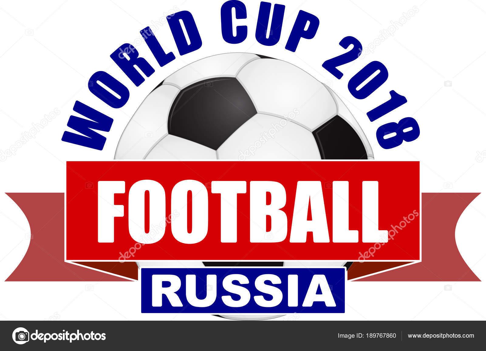 Fußball 2018 Meisterschaft Design Den Farben Der Nationalflagge Der ...