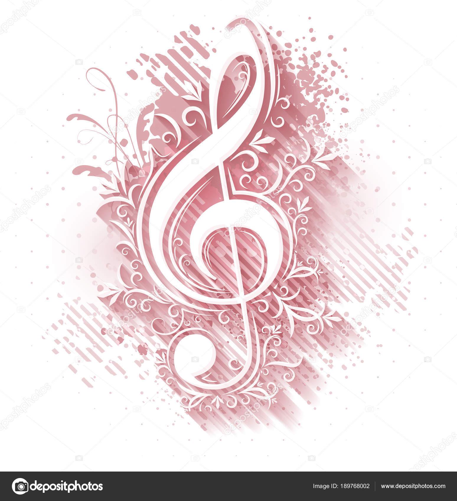 Imágenes Tonos Musicales Antecedentes Musicales Con Clave Sol