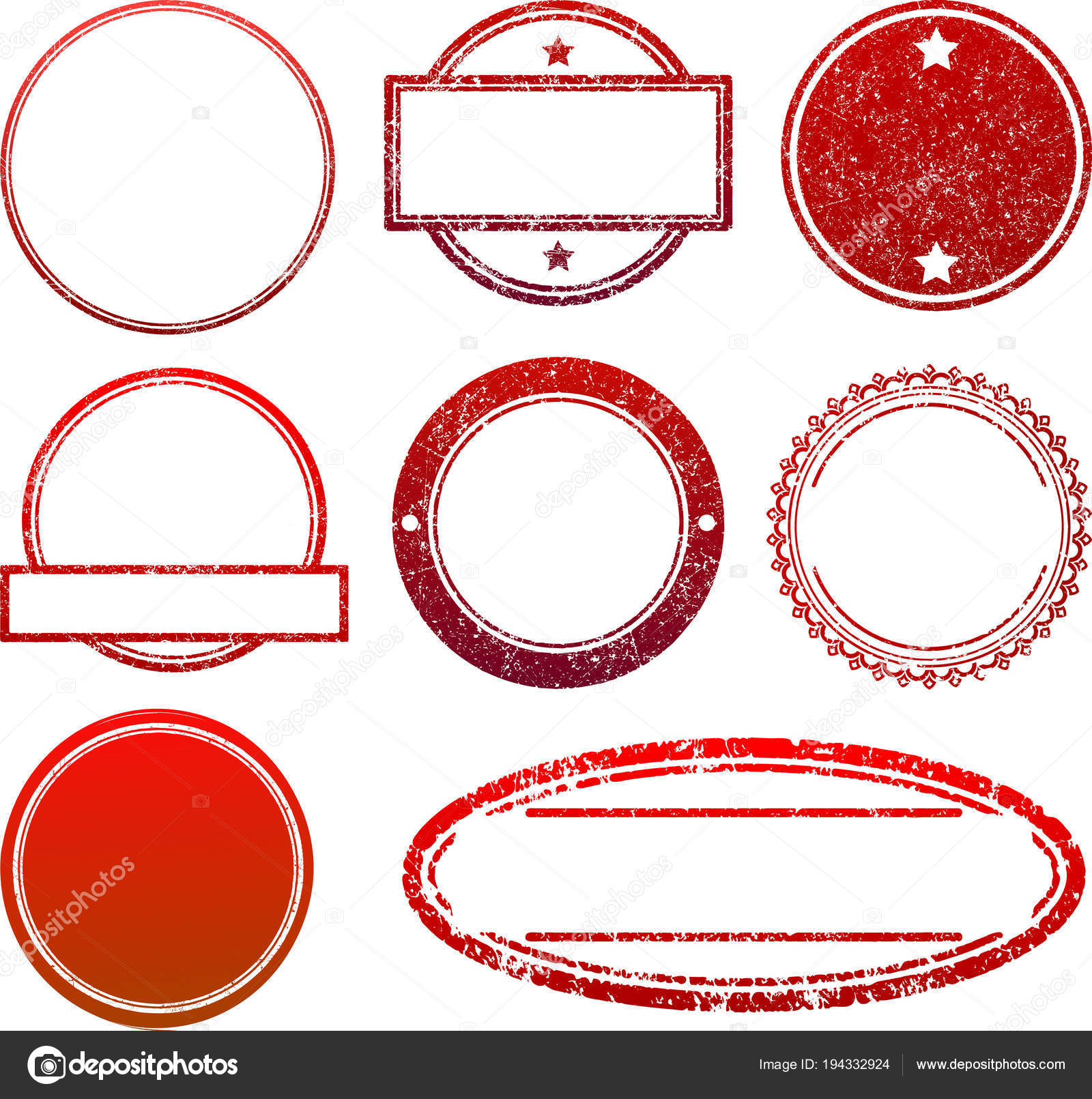 set red rubber stamps templates stock vector antonshpak 194332924