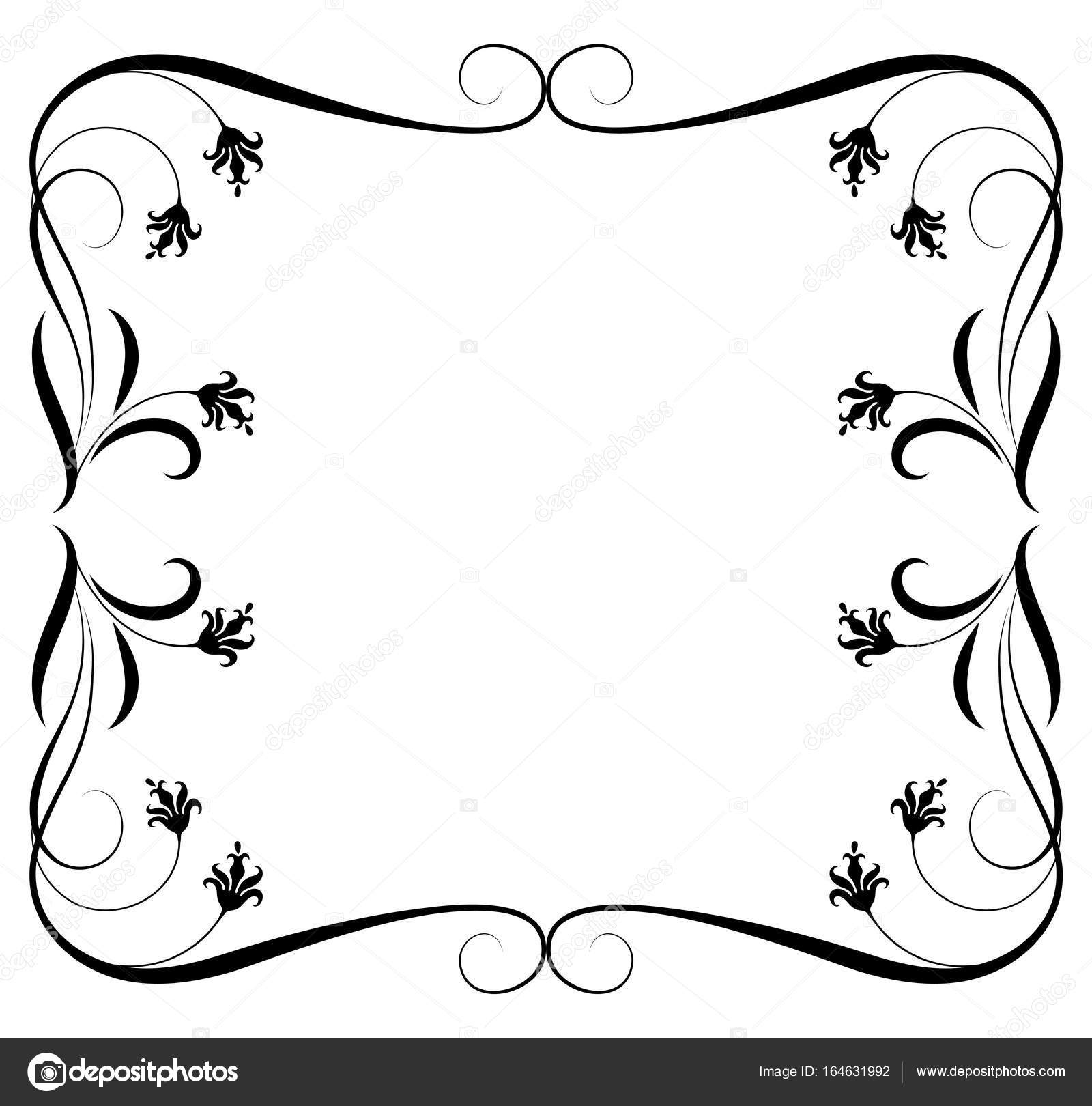 Dekorative floral Ornament Rahmen — Stockvektor © Marisha #164631992