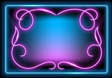 Neon luminous frame for decoration signboard