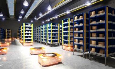 automated modern warehouse
