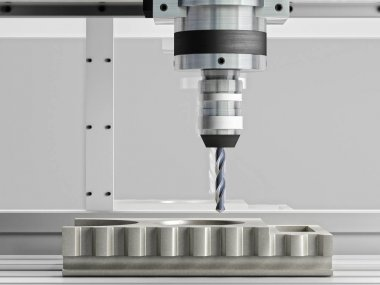 cnc machine in action