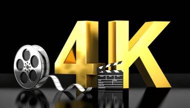 4k movie concept
