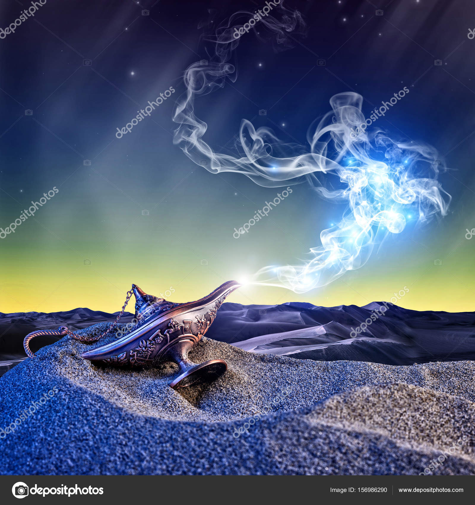 magic aladdin lamp — Stock Photo © jukai5 #156986290 for Aladdin Desert Background  45hul