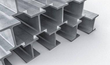 steel metal beam 3d