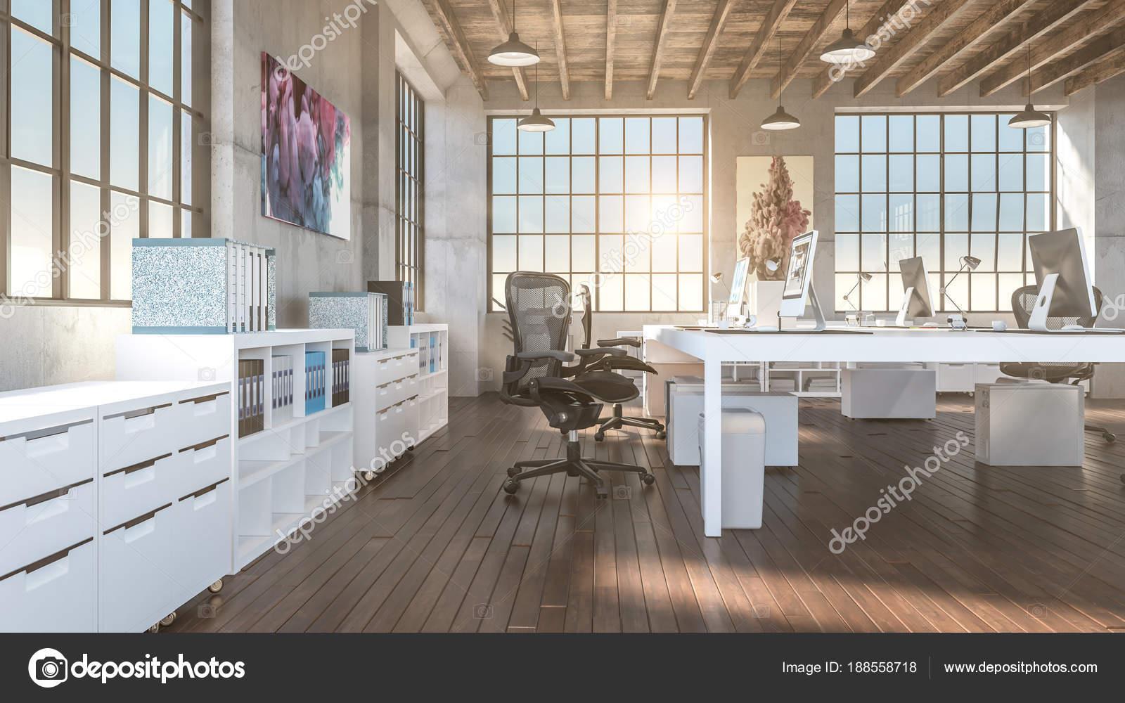 industriellen stil b ro stockfoto jukai5 188558718. Black Bedroom Furniture Sets. Home Design Ideas