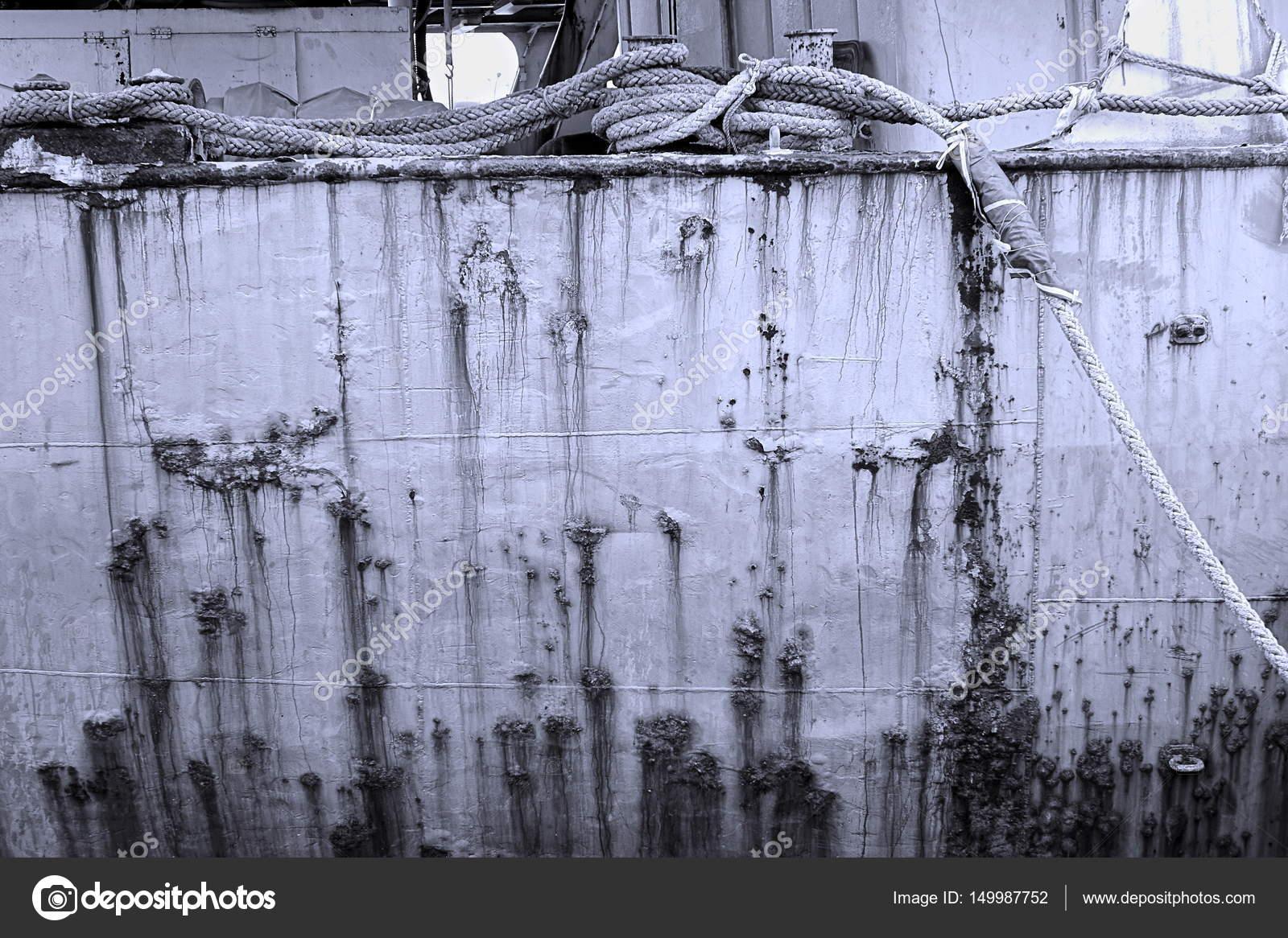 Grimy Old Ship Hull — Stock Photo © shiyali #149987752