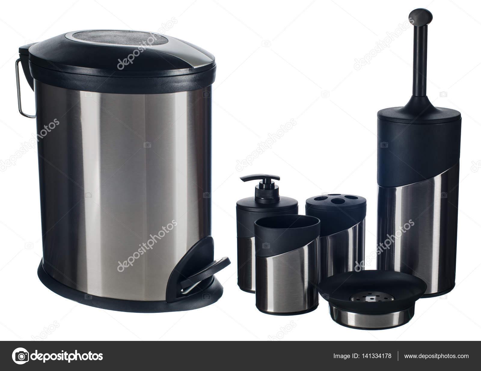 Set di accessori bagno in acciaio inox u2014 foto stock © am wolna