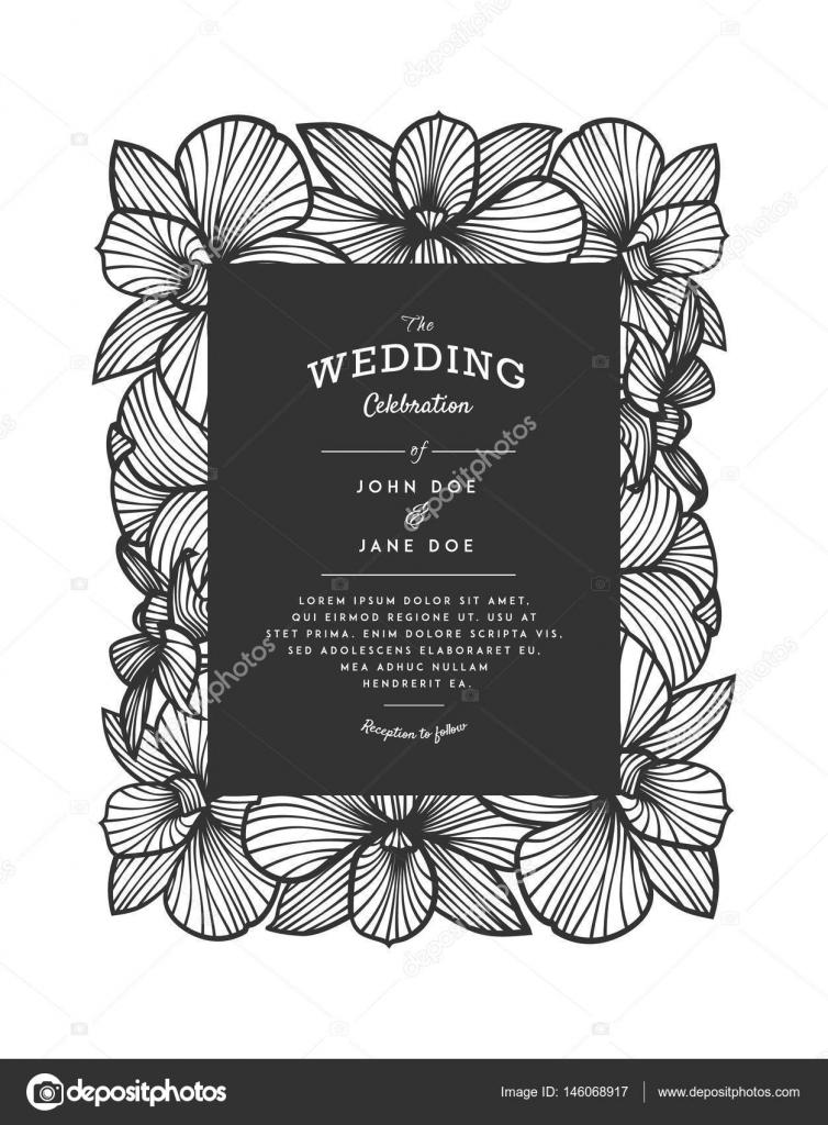 Laser cut vector wedding invitation with orchid flowers for laser cut vector wedding invitation with orchid flowers for decorative panel stock vector stopboris Choice Image